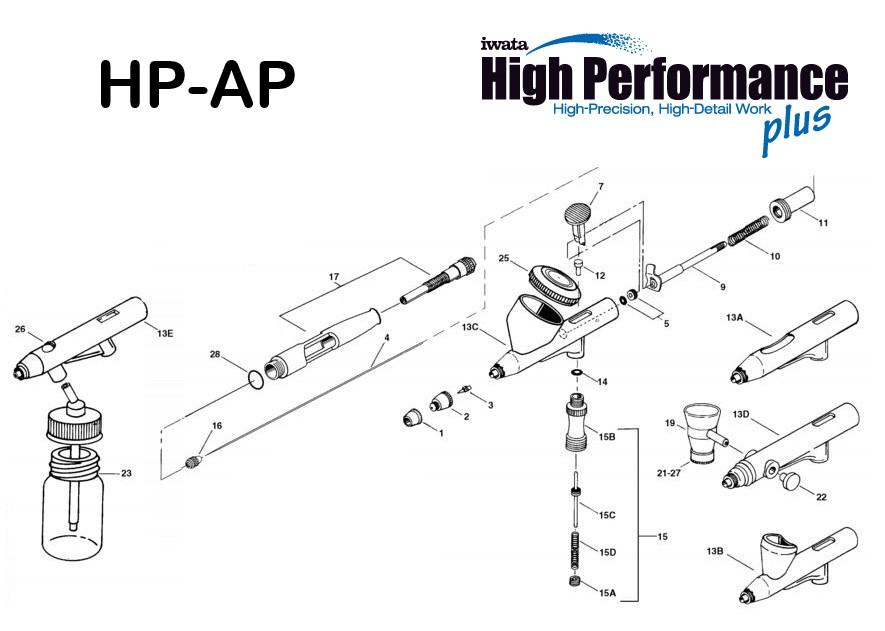 Iwata High Performance HP-AP (Diagrama de Refacciones)