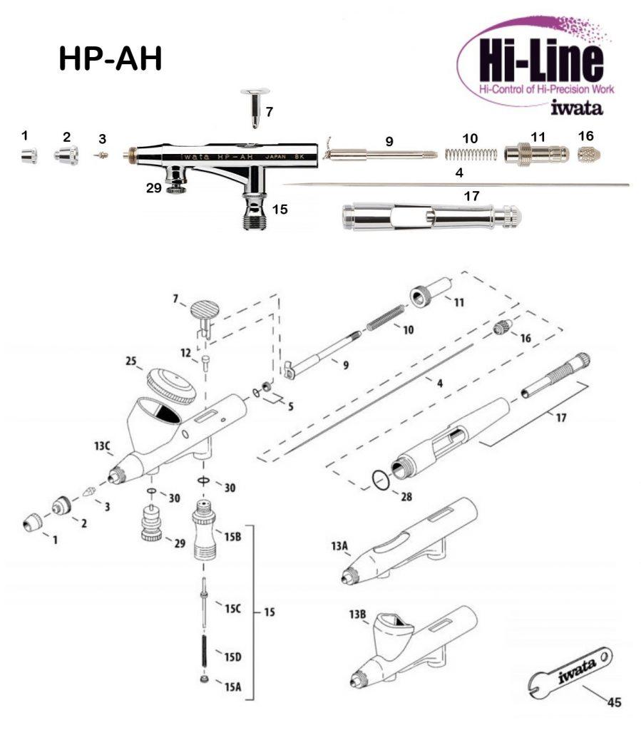 Iwata Hi Line HP-AH (Diagrama de Refacciones)