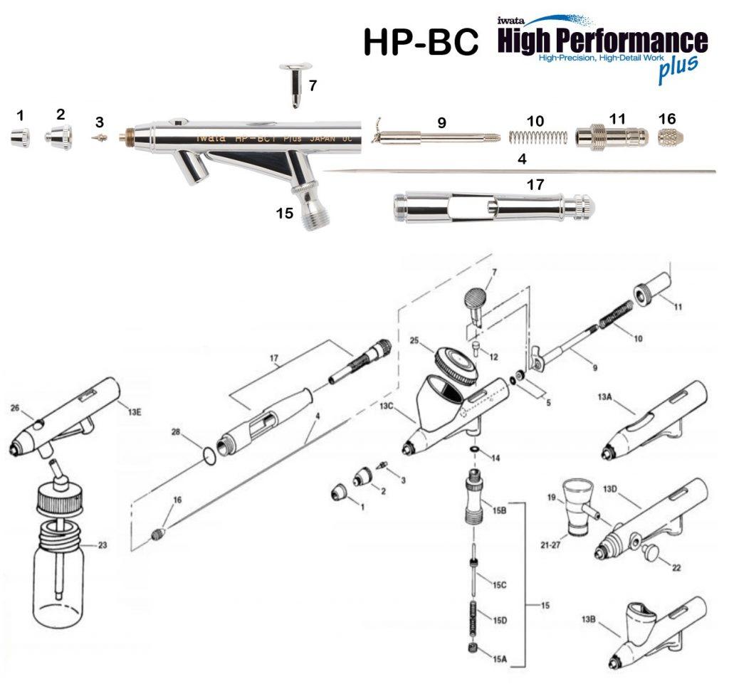 Iwata Hi Performance HP-BCP (Diagrama de Refacciones)