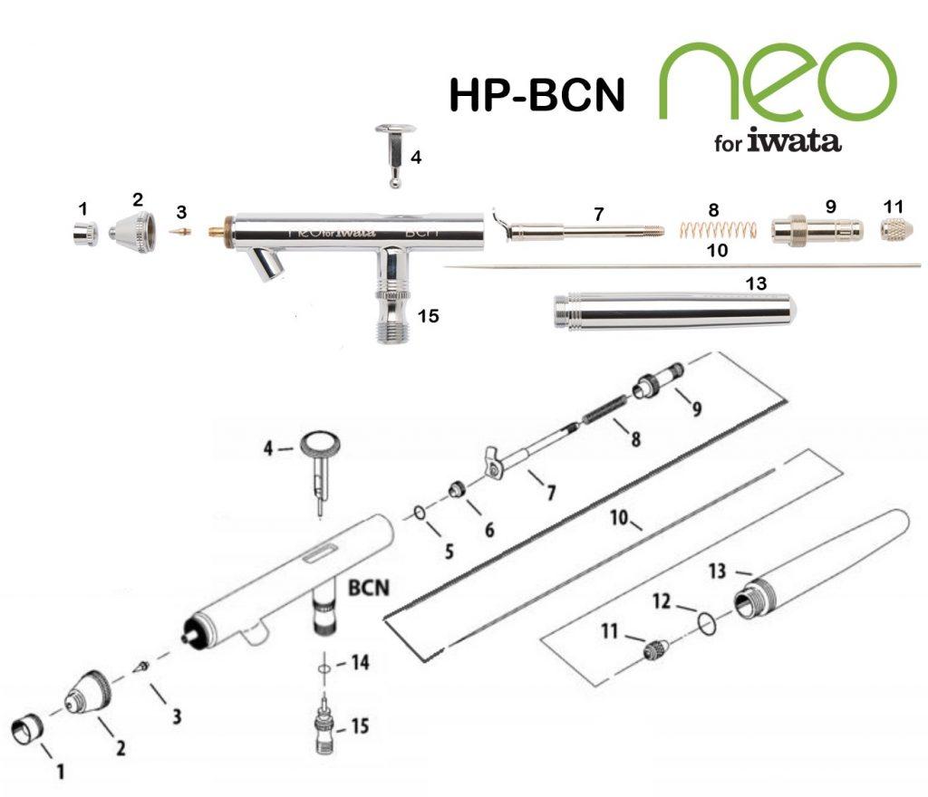 Iwata Neo HP-BCN (Diagrama de Refacciones)