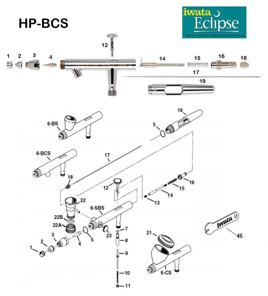 Iwata Eclipse BCS (Diagrama de Refacciones)