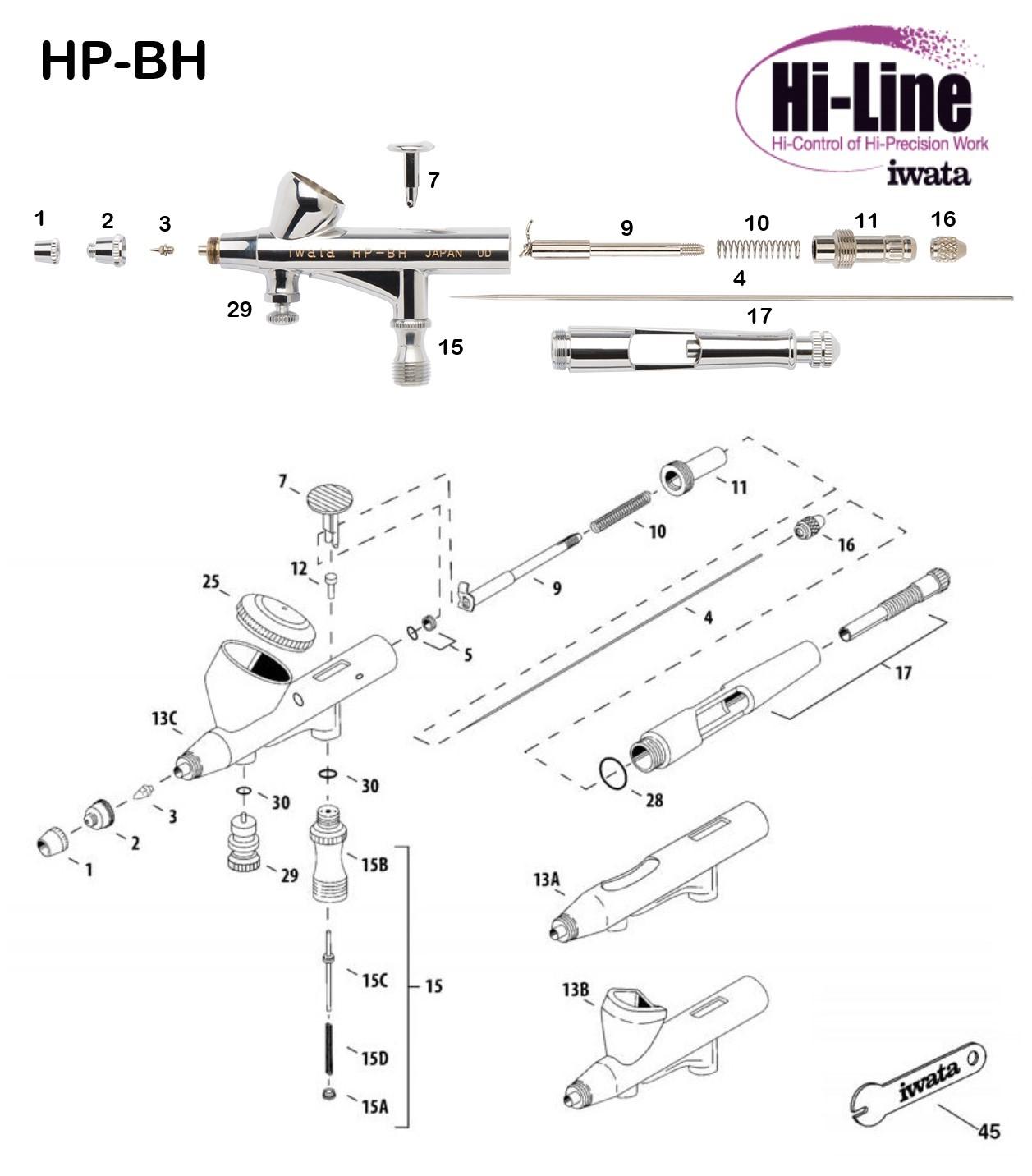 Iwata Hi Line HP-BH (Diagrama de Refacciones)