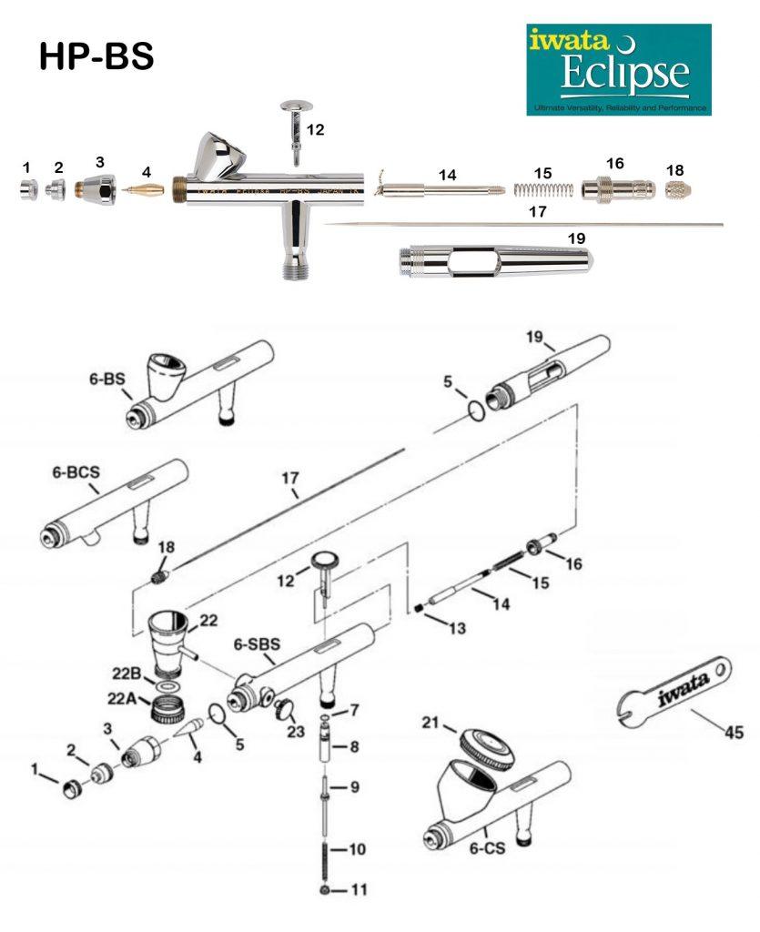 Iwata Eclipse BS (Diagrama de Refacciones)