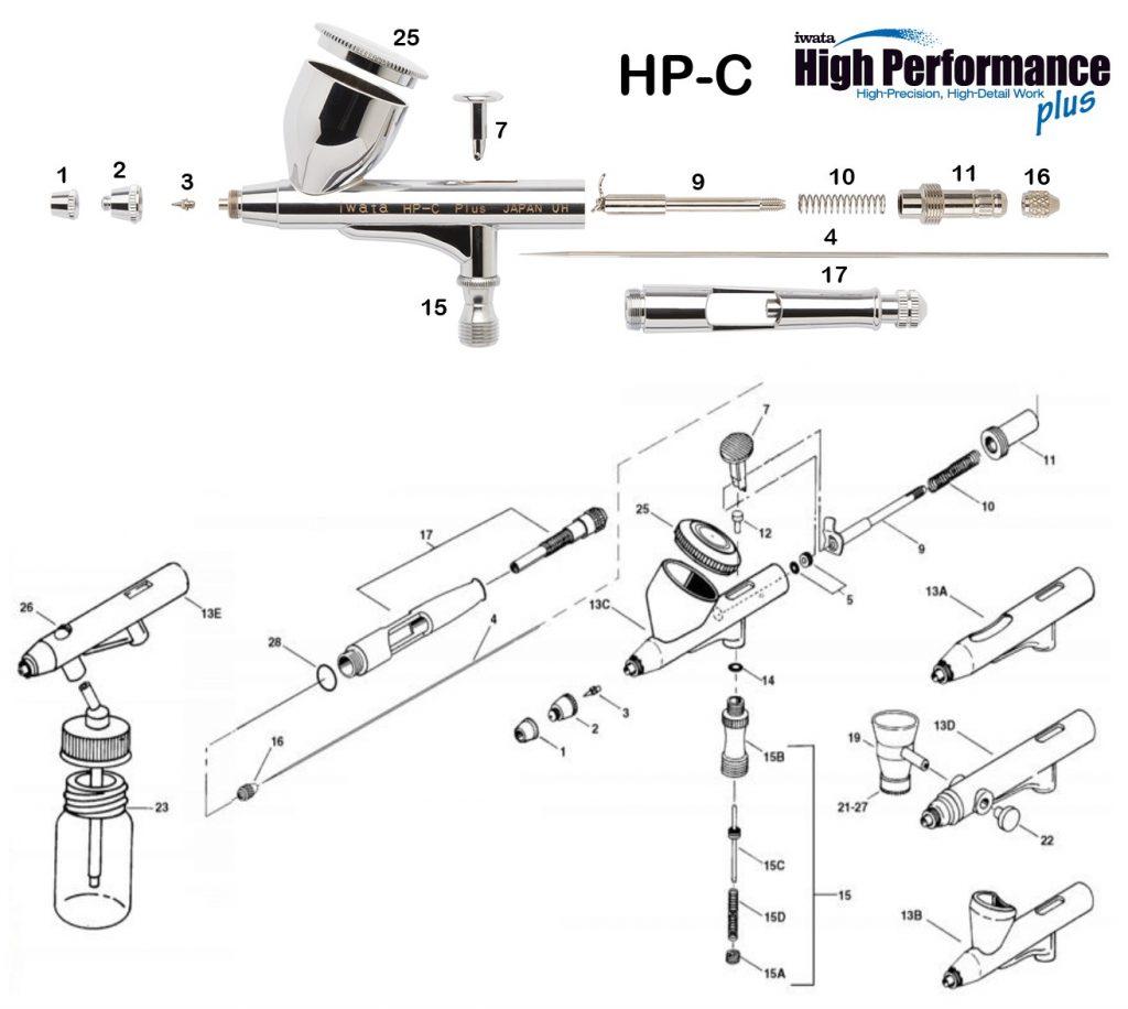 Iwata Hi Performance HP-CP (Diagrama de Refacciones)