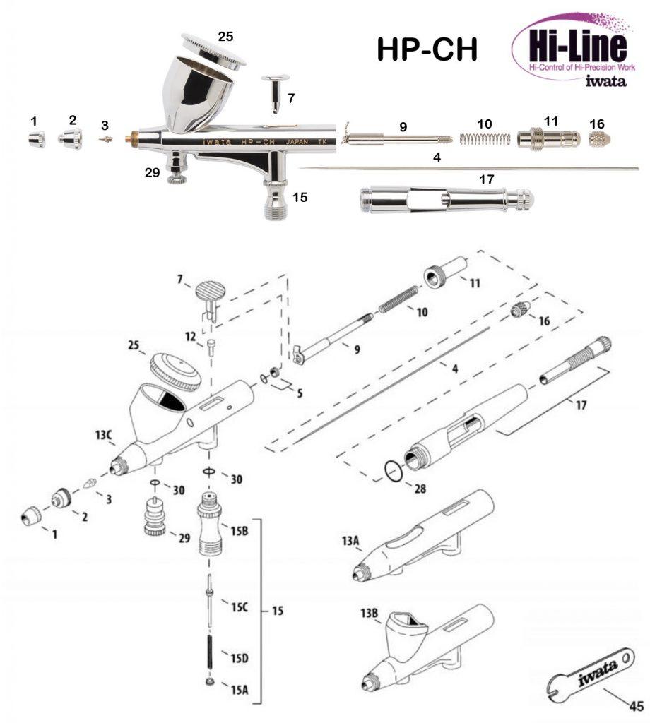Iwata Hi Line HP-CH (Diagrama de Refacciones)
