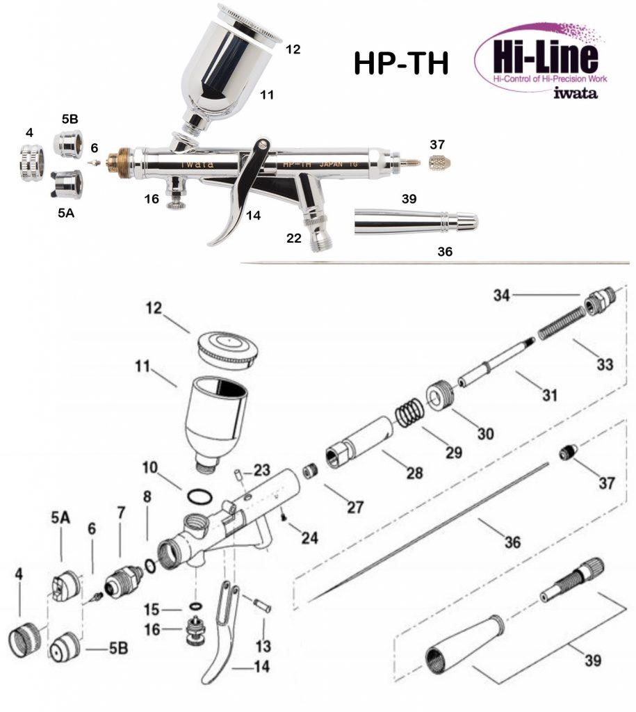 Iwata Hi Line HP-TH (Diagrama de Refacciones)